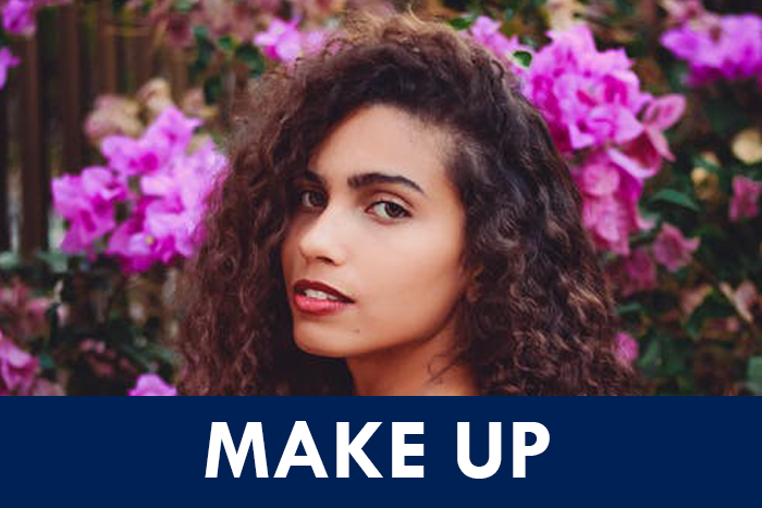 curly make up